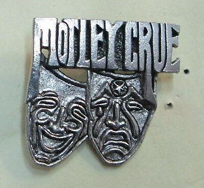 Motley Crue Vintage Metal Lapel Pin New From Late 80's Theatre Pain Heavy Metal