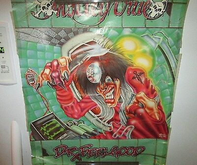 Motley Crue Poster Rock  1990 Collectable Display Vintage Dr. Feelgood