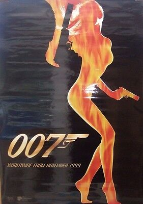 007 THE WORLD IS NOT ENOUGH(1999)Original US one sheet advance movie poster