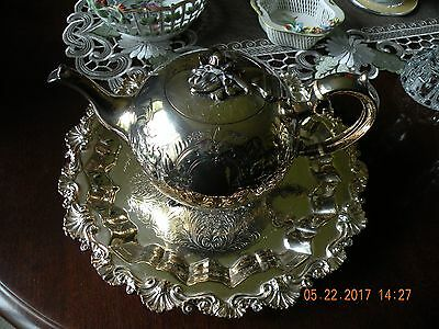 Antique G.H.& Co. EPGS Repousse Tea Pot c. 1800s