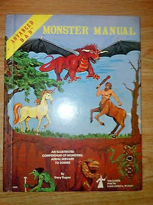 Advanced Dungeons & Dragons Monster Manual 1st edition superb condition