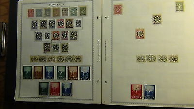 Vatican stamp collection on Minkus pages to '85