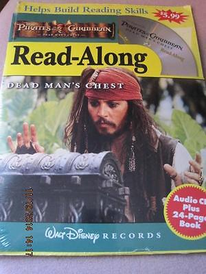 PIRATES of the CARIBBEAN Walt Disney Records Read-Along Dead Man's Chest Sealed