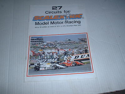 Vintage  Scalextric 27 Circuits Track Plan Catalogue Very Good Condition