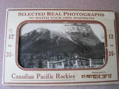 CANADIAN PACIFIC ROCKIES Selected Real Photographs Byron Harmon 9 of 12 35 cents