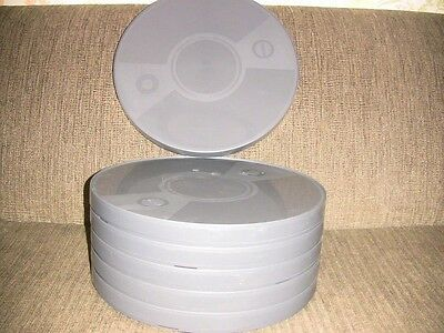 SIX- 1600ft 16mm Plastic CANS - NEW ARCHIVAL