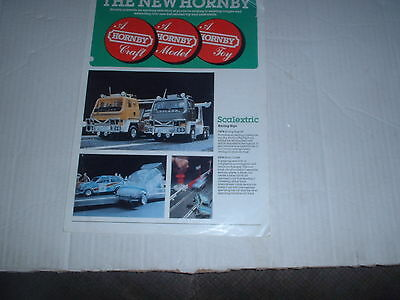 Vintage Scalextric  The New Hornby 4 Page Catalogue Scarce Very Good Condition