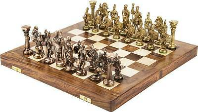 Chessncrafts Antique Gold & Copper, wooden folding 7.5 cm Chess Board