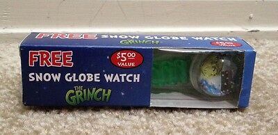 The Grinch Snow Globe Watch New in Box Christmas Movie Universal Studios 2000