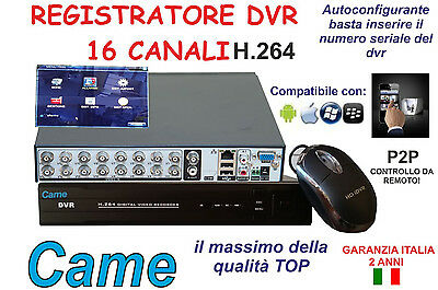 DVR RECORDER 16 CANALI 16CH 960H AUDIO VIDEO LAN VGA USB H.264 by gemi elettroni