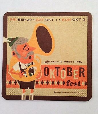 Beau's All Natural Brewing Company (Oktoberfest 2012) Beer Coaster