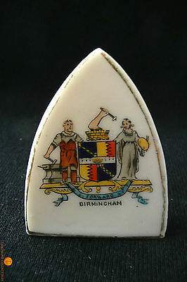 Crested China Model of a Flat Iron with Birmingham Crest / Coat of Arms