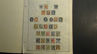 Austria classics  stamp collection on Scott Int'l pages to '37