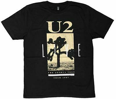 Official U2 - The Joshua Tree Live 1987 - Men's Organic Cotton Black T-Shirt