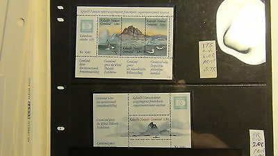 Greenland  stamp collection on Scott Int'l  to '91/ Minkus pages to '85