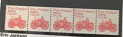 Scott# 1908 20c Fire Pumper Coil PNC5 Plate Number #7 RARE MNH APS LIFETIME