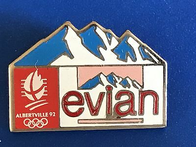 RARE PINS PIN'S .. OLYMPIQUE OLYMPIC ALBERTVILLE 92 Sponsor Evian