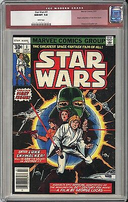 STAR WARS #1 CGC NM/M 9.8 White Pages - 1st Appearance ANYWHERE - VERY OLD LABEL