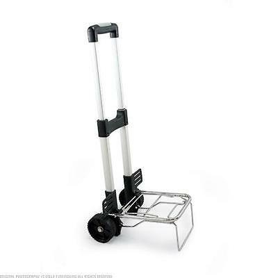 Picnic Time Trolley Folding Cart on Wheels with Extendable Handle