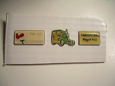 Trucker Truck Vintage Pins from the 80's