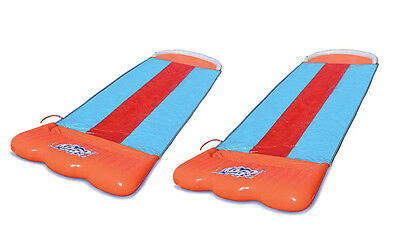Two Pack: Bestway H2O Go Triple Slider Kids Outdoor 3-Person Water Slides