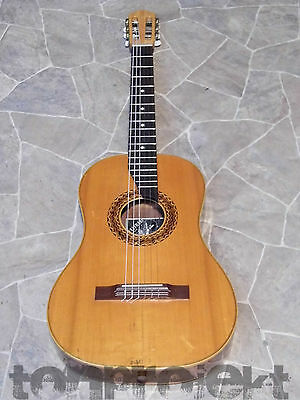fine WALTHARI all solid mahogany parlor GUITAR Walther Mittenwald Germany 1950s