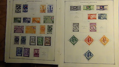 Dominican Republic 2...  classics stamp collection on Scott Int'l  pages to 1970
