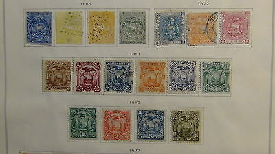 Ecuador classics stamp collection on Scott Int'l  pages to 1975