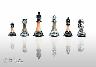 "The Contemporary Chess Series - Pieces Only - 3.5"" King - Silver and Jade"
