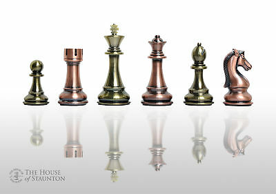 "The Candidates Series Chess Set - Pieces Only - 4.25"" King - Metallic"