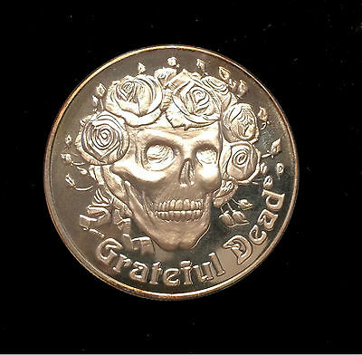 GRATEFUL DEAD Head Skull Skeleton Silver Coin Concert Garcia Bertha Rose Mouse $