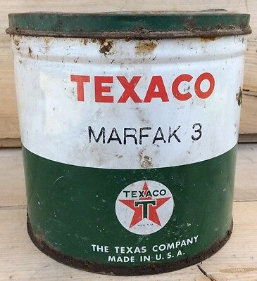 Vintage Texaco Marfak No. 3 Grease Can