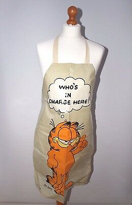 Garfield apron Vintage 1978 Jim Davis Baking cooking Cat  Xmas gift B75