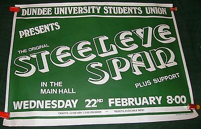 Steeleye Span original 1984 concert poster Dundee University Union