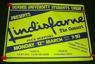 Lindisfarne original 1984 concert poster Dundee University Union