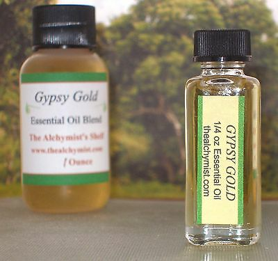 Gypsy Gold Essential Oil Special Wiccan Craft 1/4oz Pagan Altar Ritual Spell
