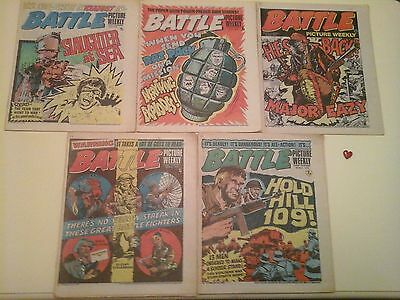 Battle picture weekly comics (5) Very good condition.