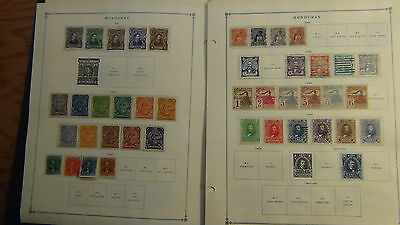 Honduras stamp collection on Scott Int'l pages to '68