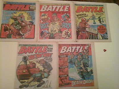 comics Battle picture weekly  (5) Very good condition