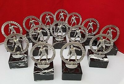 Football Trophies X 14 Pewter & Solid Marble Brand New Free Engraving & Delivery