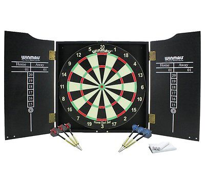 Winmau Dartboard Cabinet And Darts Containing Everything You Need For Full Game