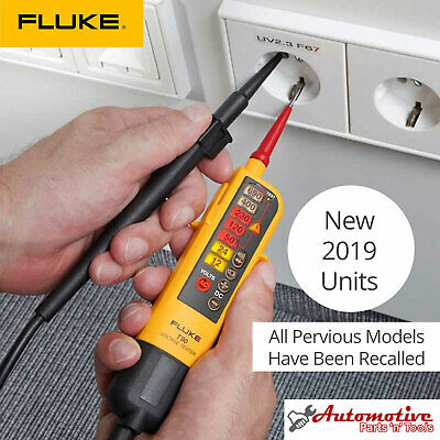 Genuine UK FLUKE T90 Voltage & Continuity 2 Pole Tester & Fluke H3 Holster Case
