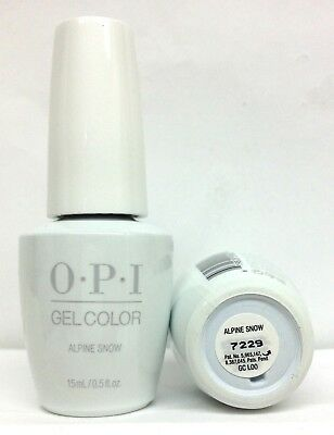 New Package Gelcolor-Soak Off Gel Nail Polish-opi ALPINE SNOW -GCL00 -0.5oz/15ml