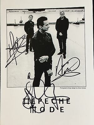 Depeche Mode Hand-Signed Autograph 5x7 With Lifetime Guarantee
