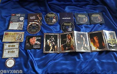 VERY RARE LOT of OFFICIAL Xena/Hercules Catalog CDs, Inserts, & Flyers