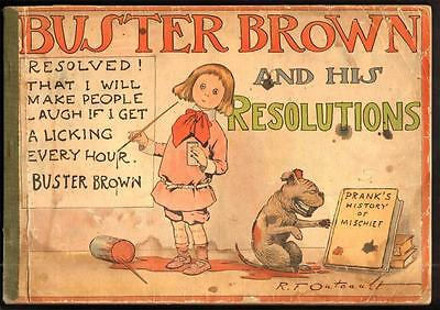 Buster Brown And His Resolutions #1 2.5 G+ 1903 Stokes Richard Outcault Rare!