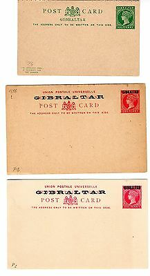 Gibraltar 19th Century 4 post cards and 6 wrappers