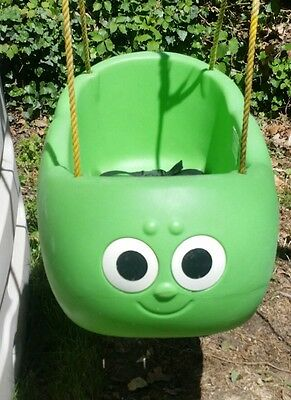 Step 2 Double Twin Toddler Baby Outdoor Green  Caterpillar Swing Set Tree