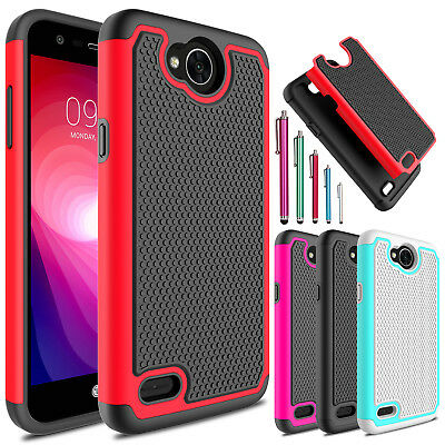 Shockproof Hybrid Hard Phone Case Cover Armor For LG Fiesta LTE/LV 7/X Charge
