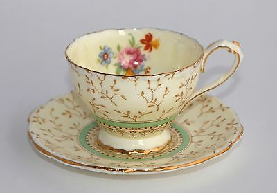 Vintage Paragon Demitasse Cup & Saucer 4116 - Yellow, Floral Spray (Multi Avail)